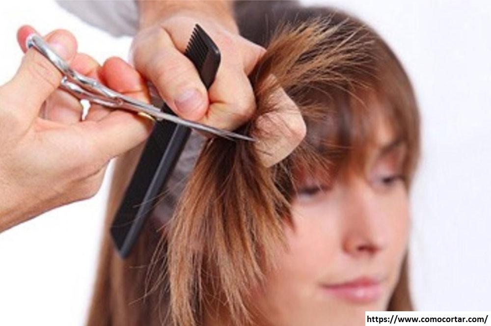 Corte de cabello degrafilado con tijeras